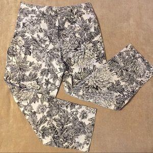 Rafaella Floral Print Capri Pants